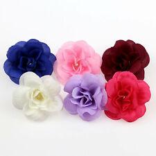 10/100Pcs Silk Artificial Flowers Fake Rose Flower Heads 4.5cm Wedding Bouquet