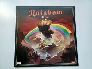 1st Press UK Polydor LP Oyster Mispressed Label Rainbow Rising 1976 Matrix A1/B1