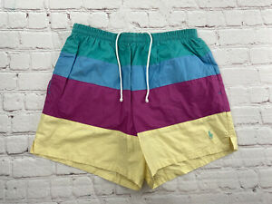 Vintage 90s Polo Sport Ralph Lauren Men's Swim Trunks Board Shorts Size Small