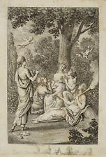 CHODOWIECKI (1726-1801). Flora und die Jahreszeiten; Druckgraphik 1