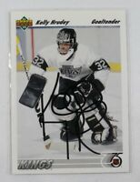 Kelly Hrudey Auto 1992/93 Upper Deck #262 Signed Hockey Card Los Angeles Kings