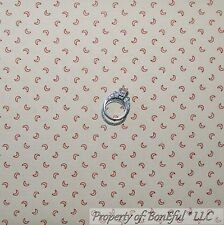 BonEful Fabric Fq Cotton Quilt Tan Reproduction Vtg Moon Colonial Williamsburgh