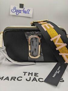 BNWT AUTH Marc Jacobs Snapshot bag New Black Multi Camera Crossbody Dustbag Tags