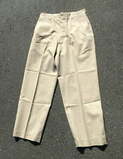 Vintage 1961 Dated Us Air Force Cotton Khaki Trousers Tan Summer Service 31 x 30