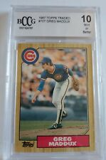 Greg Maddux 1987 Topps Traded #70 rookie card BCCG mint 10