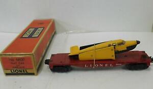 LIONEL 6800 FLAT W/ PLANE.