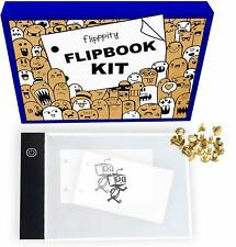 Flip book Flipbook kit with light pad and 200 sheets 3x5 pre-drilled flipbook pa