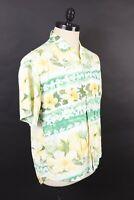 VTG JAMS WORLD Rayon Multicor Floral Print Hawaiian Shirt USA Mens Size Large