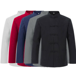 Bruce Lee Kung Fu Wingchun Jacket Coat Martial Arts Taichi Uniform Men Tang Suit