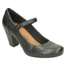 Zapatos de tacón de mujer textiles Clarks color principal negro