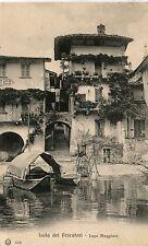 Italy Lago Maggiore - Isola dei Pescatori old postcard
