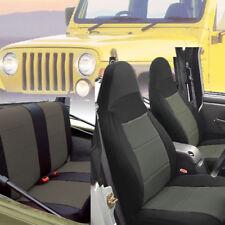 Jeep Wrangler TJ Neoprene Seat Cover Front & Rear Rubicon Grey 1997-02 tj127gy