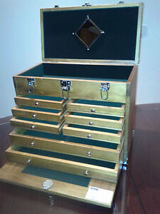 8 drawer wooden tool chest