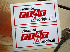 FIAT RICAMBI ORIGINALI Car Stickers 100mm Pair Race Rally Racing Classic Tuning