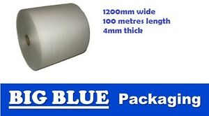 FOAM POLYFOAM WRAP Roll 1200mmX100mtrX4mm thick wrapping protection insulation