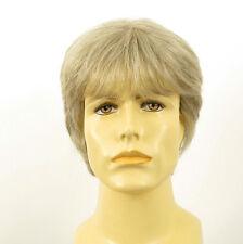 Perruque homme 100% cheveux naturel blanc méché gris ERIC 51