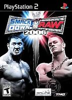 WWE SmackDown vs. Raw 2006 (Sony PlayStation 2, 2005) with manual.
