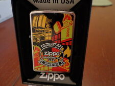ZIPPO COLLAGE BARBOUR STEET OFFICES ZIPPO CAR  ZIPPO LIGHTER MINT IN BOX