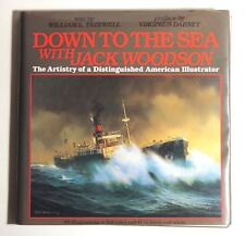 Down To The Sea with Jack Woodson 1st Ed. Book 1987 HCDJ American Illustration