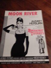 "AUDREY HEPBURN  "" MOON RIVER""  MOVIE: BREAKFAST AT TIFFANY'S SHEET MUSIC"