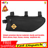 Bike Bicycle Triangle Frame Bag Front  Tube Cycling Black Pouch With Zipper