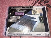Performance Springs ~ NOS Vtg Twin Flat Sheet Navy Blue Percale 180 Thread