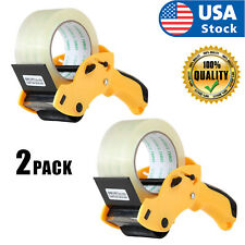Usa 2pcak Tape Gun Dispenser Packing Machine Shipping Grip Sealing Roll Cutter