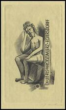 Jakubowski Wojciech 1959 Exlibris C2 Bookplate Jesus Christ Religion 99