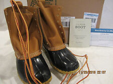 "L.L. Bean Classic 8"" Bean Boot Women's 6M(B) Tan/Navy Item 212880"