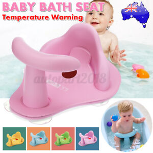 Shower Chair Pad Bath Tub Seat Shower Anti-slip Toddlers Safety Thermometer AU