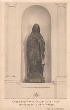 LYON chapelle  du pensionnat saint-louis statue en bois de la Vierge écrite
