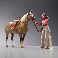 Breyer Horse 911 Clayton Quarter Adios #50 Mold Dap Palomino RIDER +SADDLE+TACK+