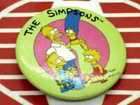 The Simpsons Family Bart Homer Marge Lisa Maggie Pinback Button Accessory 1989