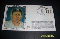 1984 New York Yankees WHITEY FORD Old Timers Day Silk First Cover CHAIRMAN BOARD