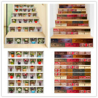 6Pcs 3D Stair Stickers Staircase Step Riser Decals 7x39inch Vinyl Wall Decor