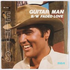 ELVIS PRESLEY: Guitar Man / Faded Love USA RCA PB-12158 45 w/ PS NM-