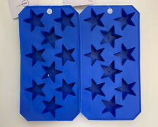 Star Ice Cube Trays Lot Of 2 Blue Silicone Ice/Candy/Soap Mold