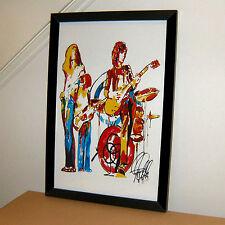Led Zeppelin Plant Page Jones Bonham Black Dog Music Print Poster Wall Art 11x17