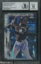 2020 Topps Chrome Prism Refractor #60 Luis Robert RC BGS BAS 10 AUTO White Sox
