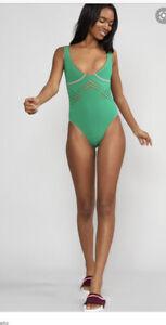 Cynthia  Rowley Maui Swimsuit Green XS STUNNING!
