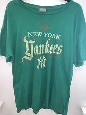 Vintage Retro Nba Oficial New York Yankees T SHIRT Top Verde Talla XL