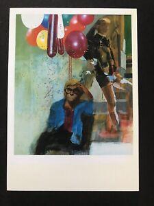 PETER BLAKE, 'PORTRAIT OF DAVID HOCKNEY' gallery art card, 2014