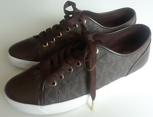 NEW LADIES AUTHENTIC MICHAEL KORS BROWN SNEAKERS PICK SIZE FROM 7.5, 8 or 8.5