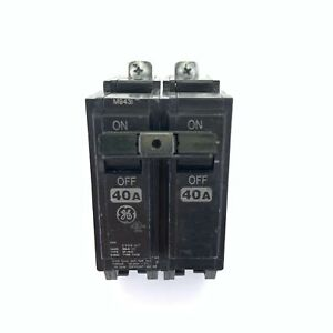 General Electric GE THQB 2-Pole Unit 40 Amp Circuit Breaker