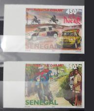 SENEGAL RALLY RALLYE 2007 DAKAR MOTO MOTOCYCLE CARS IMPERF RARE MNH