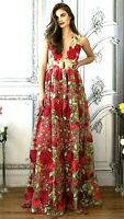 New NWT $1,500 Lurelly Embroidered Floral Long Maxi Dress Gown IT 38 US 2