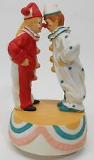 Vintage Aldon Porcelain Turning Music Box Clown Funny Gift Wind Up