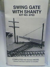 Smokey Mountain Model HO Swing Gate w/ Shanty KIT #8703 NEW->(2 Photos)