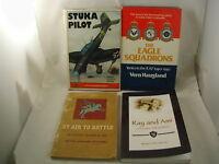 World War II Air War in Europe 4 Books British Stuka Pilot Eagle Eagle Squadron