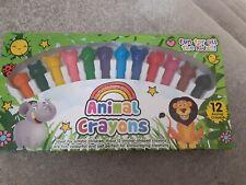 12 Animal Crayons